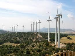 Imagen del mayor parque eólico español situado en Albacete